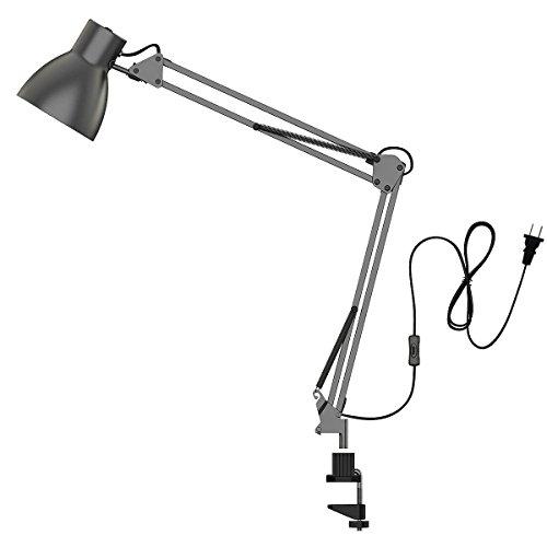 ToJane Swing Arm Desk Lamp,Architect Table Clamp Mounted Light