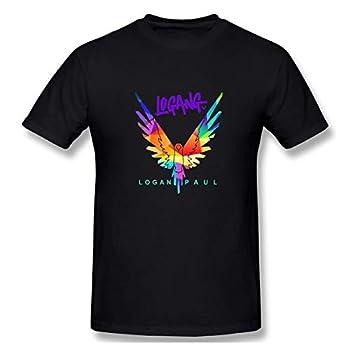 Logan Paul Maverick Fashion Mens Short Sleeve Tee Shirt Black