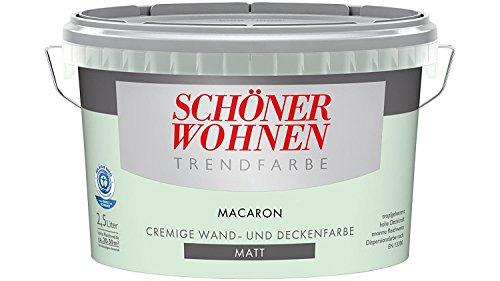 SCHÖNER WOHNEN FARBE Wand- und Deckenfarbe Trendfarbe Macaron, matt, 2,5 l 2 l, macaron