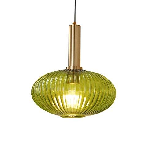 HTL Techo Colgante de Cristal Luz de Luz Sombra Super Bright Chandelier para la Cafetería Del Dormitorio en el Hogar,Verde
