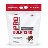 GNC Pro Performance Bulk 1340 - Double Chocolate, 15 Servings, Supports Muscle Energy, Recovery and Growth