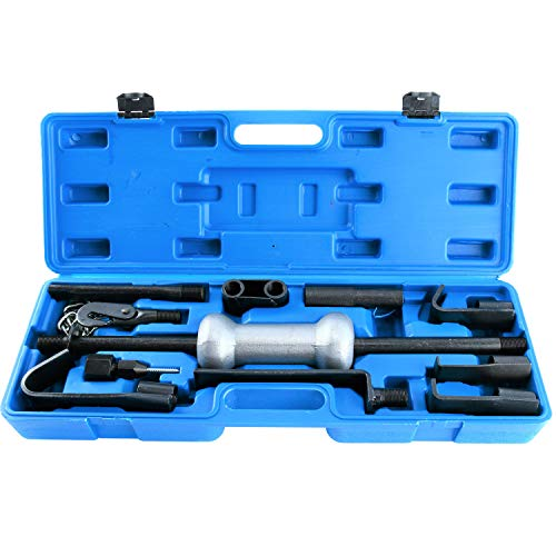 8MILELAKE Auto Truck Dent Puller Tool Set with 10lbs Universal Slide Hammer 13pc Dent Repair Tool
