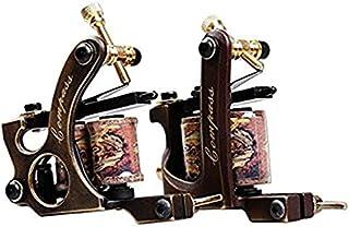 Dragonhawk 2 Pro Brass Tattoo Machine Tattoo Gun Liner Shader With 2 Tattoo Grip WQ3028+WQ3029