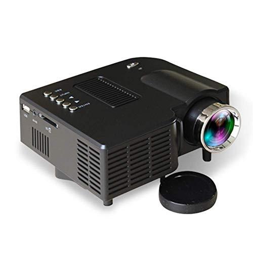 WOWOGA Mini-Projektor, tragbares Netzteil, integrierter Lautsprecher mit hohem Wirkungsgrad, Heimkino, Schwarz
