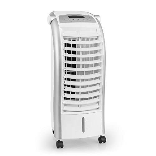 TROTEC PAE 25 Aircooler Mobiles Klimagerät Klimaanlage 3-in-1 Luftkühler Ventilator Lufterfrischer (4 Gebläsestufen, Nacht-Modus, Timer, Naturwind-Modus, uvm.)