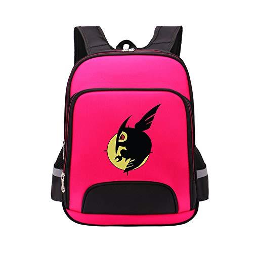 Akame ga Kill Mochila Escolar de Color Liso Mochila de Lona Unisex Fresca Mochila de Gran Capacidad Anime Luminoso (Color : Red01, Size : 30 X 15 X 40cm)