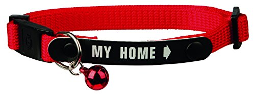 TRIXIE Collar Gatos con Placa Identificativa, Nylon, Gato