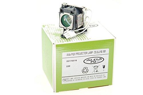 Alda PQ-Premium, Lámpara de proyector para BENQ W100 Proyectores, lámpara con Carcasa