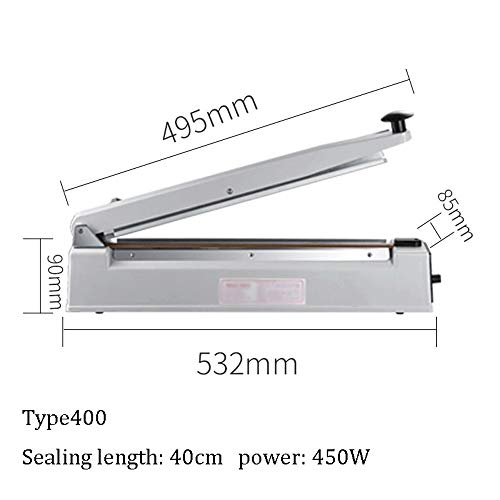 Buy Vacuum Sealer/Heat Sealer Bag Sealer Heat Sealer Impulse Sealer Commercial Hand Pressure Sealing...