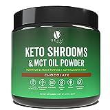 Bean Envy Keto Shrooms – Mushroom Extract Root Powder & MCT Oil Powder & Ashwagandha – Perfect for Keto, Immunity Boost, Weight Loss and Stress Management - Chocolate