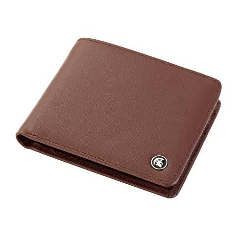 POWR lederen portemonnee, RFID-blokkerende tweevoudige kaarthouder, met geschenkdoos