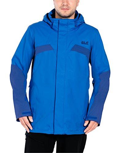 Jack Wolfskin Herren Topaz Men Wetterschutzjacke, Azure Blue, M