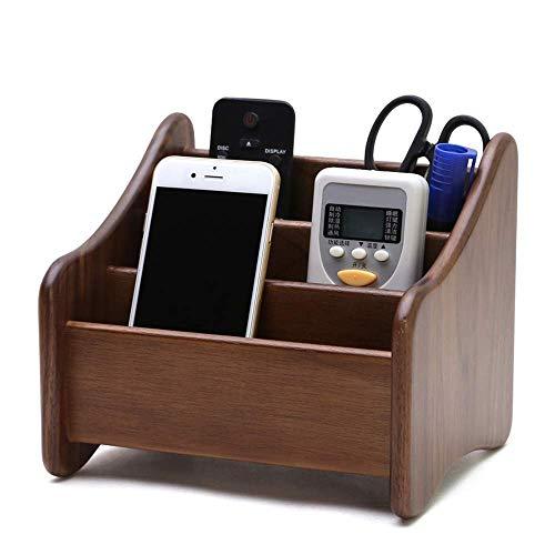YXFYXF Walnut Desktop Organizer ModRN MODRN TOLID Wood REMOT Control Holder Phone Phone Porta Penna Scatola di immagazzinaggio Multifunzione St