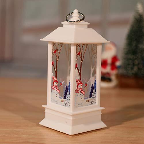 Weihnachtsbeleuchtung, dekorative Leuchten für Weihnachtsbäume, Fenster LED-Dekorationen, Nachtlichter mit Weihnachtsmann, Schneemann, Elch-Muster, Oben Spielzeug,Snowman,L