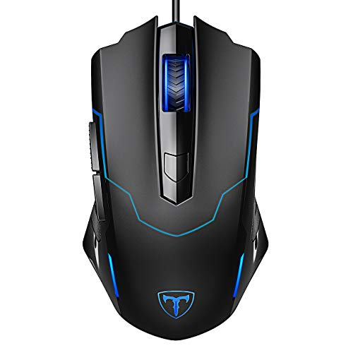 PICTEK Gaming Mouse Wired, 6 Buttons Ergonomic Optical USB...