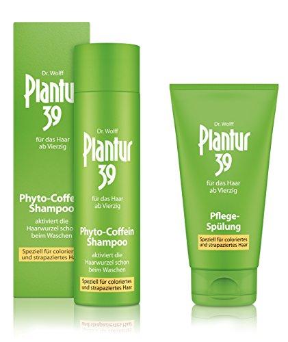 Plantur 39 Phyto-Coffein-Shampoo 250 ml + Pflege-Spülung 150 ml - speziell für coloriertes und strapaziertes Haar