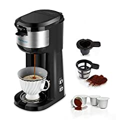 ☕ FASTLY BREW HOT COFFEE IN 3MINS: This single serve coffee maker will give you a cup of pure taste hot coffee in 3 minutes jump start your day. Have your cup ready to drink in only 3 minutes! The water adjustment function allows you to control how m...