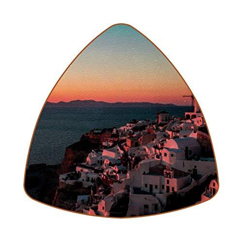 Sunset In Santorini Juego de 6 Posavasos para Bebidas para el hogar,...