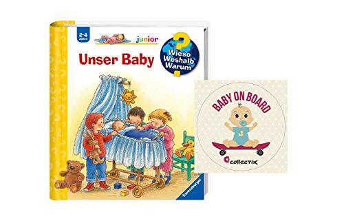 Buchspielbox Wieso? Weshalb? Warum? Junior. Unser Baby + Baby on Board - Sticker,...