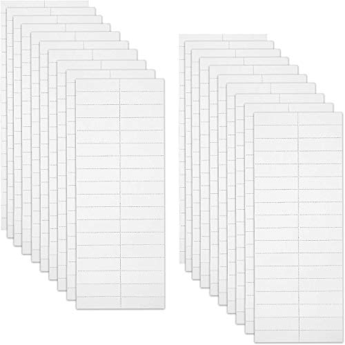 720 Pieces Blank Tab and Inserts Hanging File Inserts Paper Tab Inserts, 2 Inch
