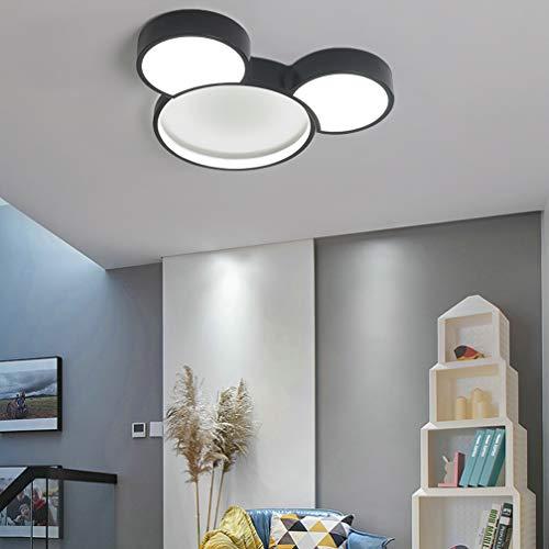 Modern Cartoon Deckenleuchte Kreative Kinderzimmerlampe LED Baby Lampe 24W Mickey Mouse Design Aluminium Lampeschirm Deckenlampe für Kinder Zimmer Schlafzimmer 50 * 6cm Schwarz,Mickey