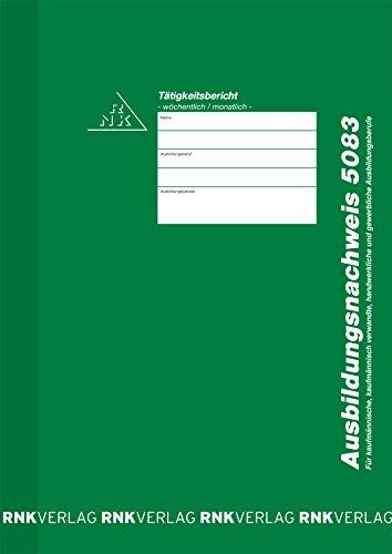 RNK - Bloc de formularios para certificar formación profesional (registro semanal o mensual, A4, 28 hojas)