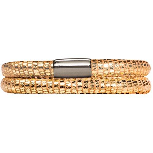 Endless Damen-Armband JLo Reptil 3-reihig Edelstahl Leder 54.0 cm - 1001-54