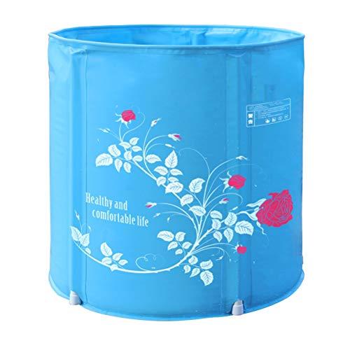 SHATONG-inflatable bathtub Faltbare Badewanne Erwachsene Badewanne Frei Aufblasbare Badewanne Verdicken Kunststoff Tragbare Badewanne Freistehende Duschwanne Whirlpool (Size : 58 * 65cm)