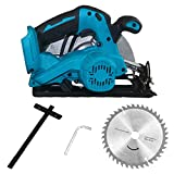 Cordless Circular Saw with 185 mm Circular Saw Guide Blades Power Tool for Wood Cutting [1 x Circular Saw (Body Only)]