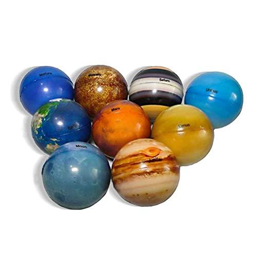 Bolas antiestrés, Bolas planetarias del Sistema Solar, 9 Bolas Suaves antiestrés, Bolas Decorativas Coloridas, Ideal para aliviar la ansiedad, ventilar el Estado de ánimo y Mejorar el Enfoque