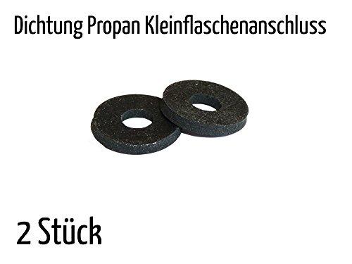 2 x Dichtung für Propan Flüssiggas aus Perbunan (Nitrilkautschuk) Dichtungen Kleinflaschenanschluss