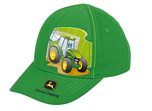 John Deere - Gorra de béisbol para niños, Color Verde