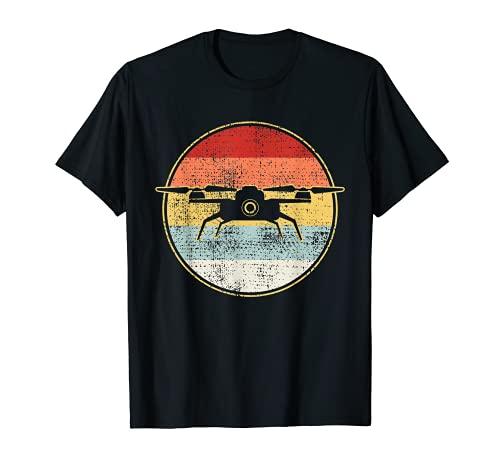 Vintage Drone T-Shirt Retro Tshirt Gift Tee T-Shirt