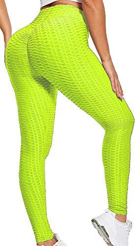 GAOJU Leggings Deporte Mujer Mallas Push Up Cintura Alta Medias Deportivas Suaves ElásticosReducir Vientre Ropa de Yoga Pantalones de Fitness para Running Training Yoga y Pilates