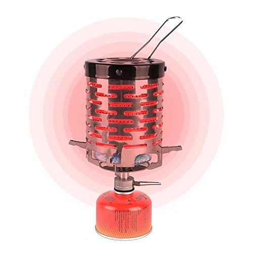 Maluokasa Accesorio de calefacción para hornillo de camping, mini lámpara de calefacción, plegable, de gas, compacto, duradero, con funda de transporte para camping, exterior, Picnic
