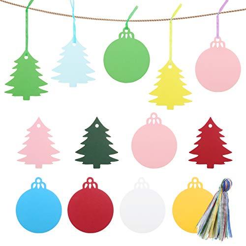 GWHOLE 120 Etiquetas de Papel para árbol de Navidad Bolas de Navidad...