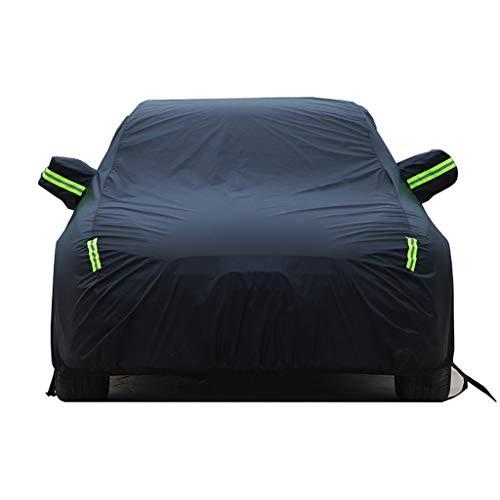 ZBM-ZBM Compatibel Met Mercedes-Benz EQC Auto Cover, Outdoor Auto Cover Vier Seizoenen Universele Auto Pak (regen/zon Bescherming/sneeuw/stof/kras/UV-bescherming) Auto accessoires Zwart
