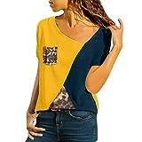 Tops para mujer,MOMOXI Camiseta de bolsillo con estampado floral a rayas para mujer Blusas Mangas largas de Las Mujeres Camisas Finas de la Camisa Camiseta Impresa v Collar de la Manera elegante 2019