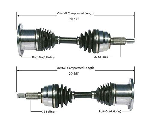 Front Left & Right CV Axle Shafts Fits For 4 Wheel Drive Ford 97-03 F150 4x4 4 Wheel Drive Models Front CV Drive Axles