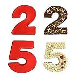 Stampo Torta Forma di Numero,2 pcs Stampi per Torte in Silicone da 25 numeri,Stampo da Forno per Torte da Fai da Te per Pane, Mousse, Gelatina, Compleanni, Matrimoni e Anniversari 6 pollici