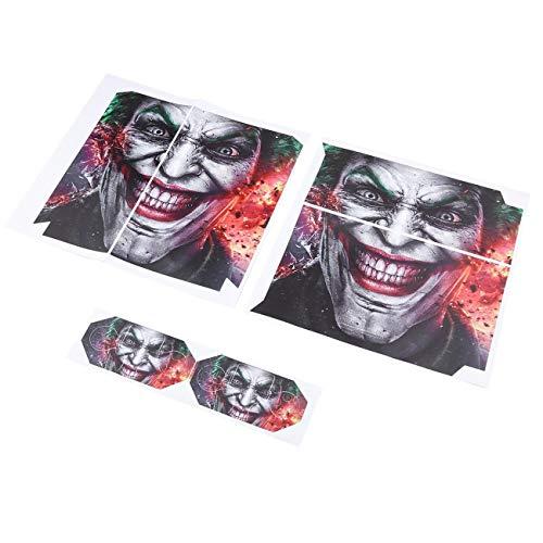 Ffengzong Lot de 1 autocollant Joker Vinly Skin Clown Gamepad pour Sony PS4 Pour Playstation 4 et 2 autocollants de manette Multicolore