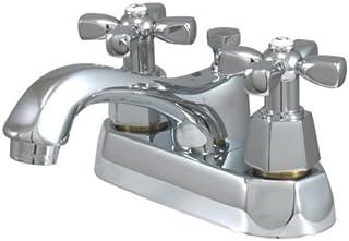 Kingston Brass KS4261HX Homestead 4-Inch Centerset Lavatory Faucet with Pop-Up, Polished Chrome