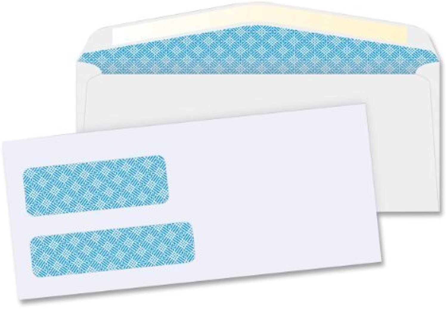 Business Source 36680 Double Window Envelopes,No. 9,3-7 8 in.x8-7 8 in.,500 BX,Weiß by Business Source B0141N5CNQ   Geeignet für Farbe