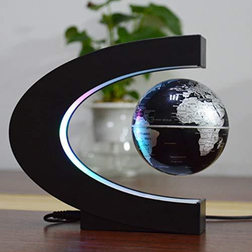 N/V Magnetische Schwebekugel schwebende Weltkarte Kugel Licht Cool Beleuchtung Büro Home Dekoration Boden Globe Licht (Europäischer Standard)