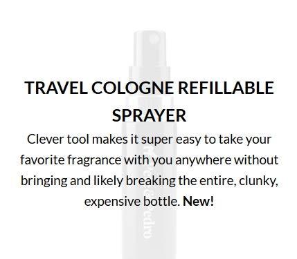 Pete and Pedro Refillable Cologne Sprayer - Refillable Travel Fragrance Atomizer