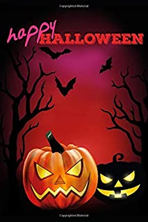 Halloween Journal: Happy Halloween Cute Jack-O-Lantern And Bats Journal (Blank Journal To Write In) (Journal For Kids)