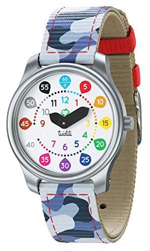 Twistiti Reloj Colorido y Didáctico para los Niños con Esfera