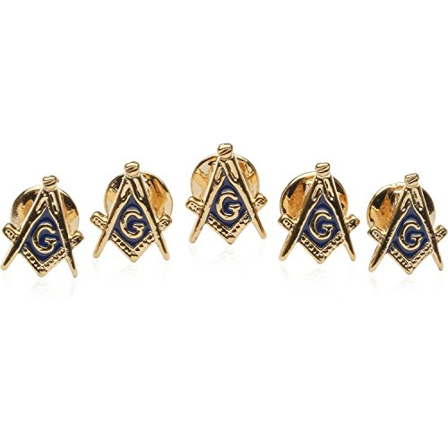 Cuff-Daddy Freemason Masonic Stud Set with 5 Studs