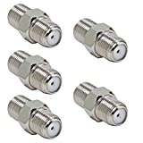 Coax Coupler Female to Female, 5-Pack RG6 F Coaxial Cable Connector, RFAdapter Barrel Adapter for TV Antenna, Coax Cable