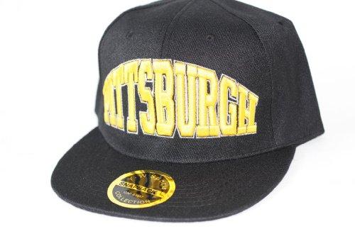Hip Hop Casquette chapeau CITY SNAPBACK équipe ville américaine FS-413 (PITTSBURGH(SCHWARZ))